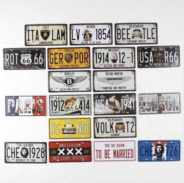 Resultado de imagem para car plates and signs