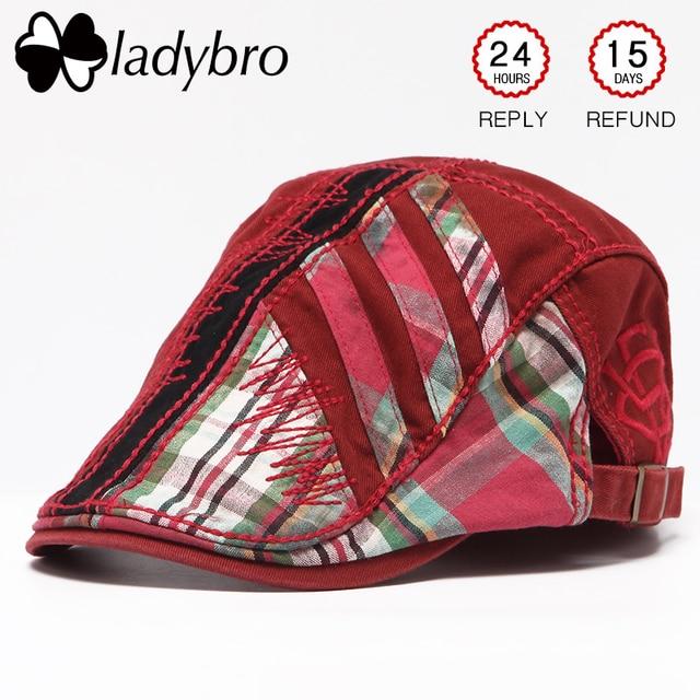Gorra de visera para hombre Ladybro gorra para mujer gorra de algodón con  retazos sombrero Primavera f865fb98067