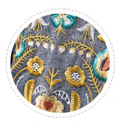 0efd0a73f2e ... Весна плюс Размеры Верхняя одежда Куртка процесс вышивки Мода Вышивка  джинсовая куртка 100 кг можно носить