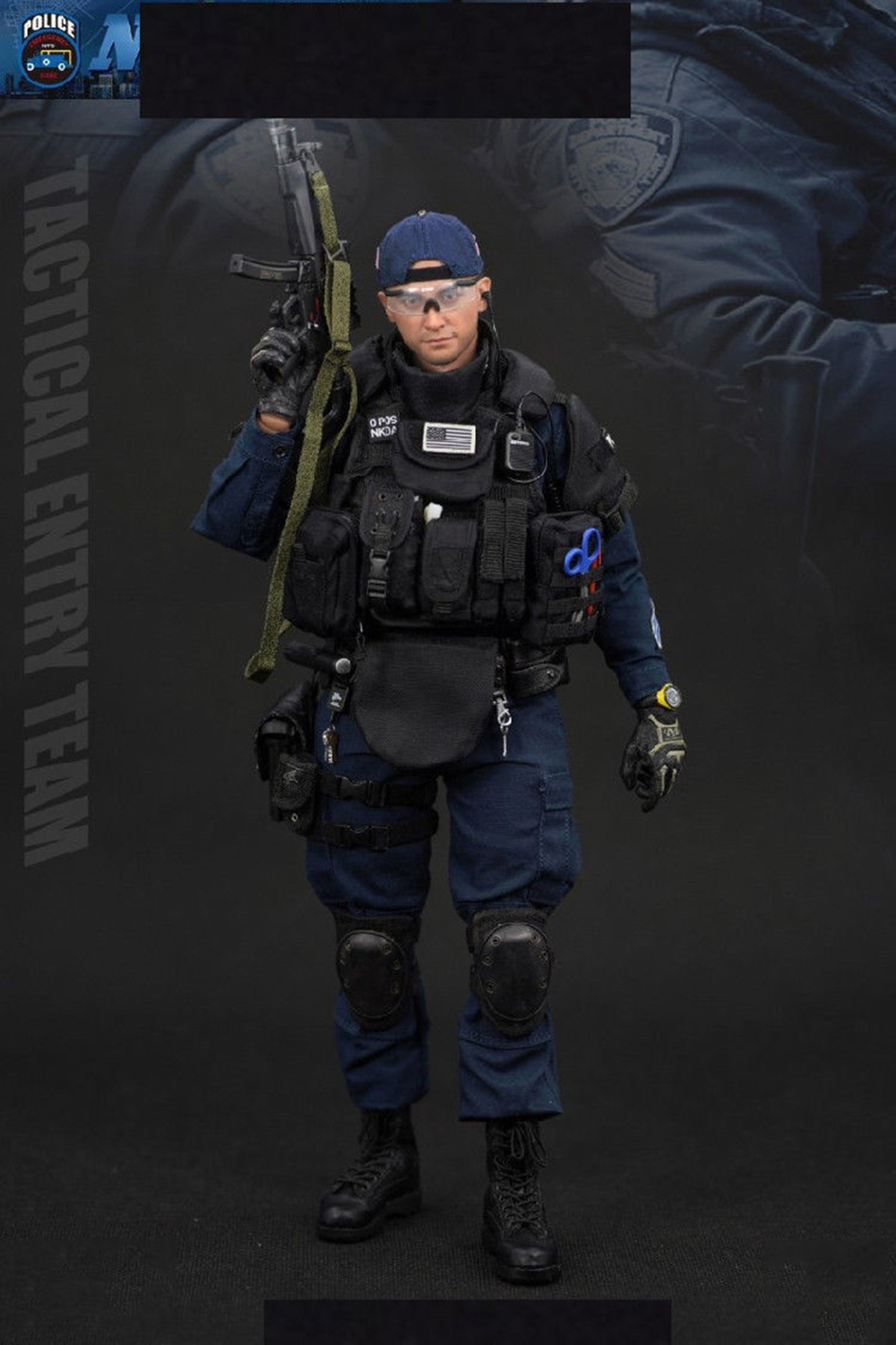 1/6 Scale New York Police Soldier ESU Tactical Entry Team Action Figure emergency service Unit full set collections dolls 1
