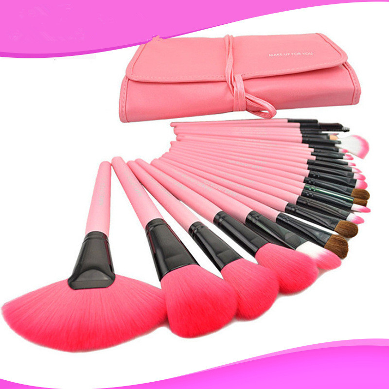 Follome 24 pcs Makeup Brushes Set Soft Professional Powder Foundation Eyeshadow Cosmetics Pink Soft Wool Fiber Make Up Tools пудра makeup revolution pressed powder porcelain soft pink цвет porcelain soft pink variant hex name ddc599