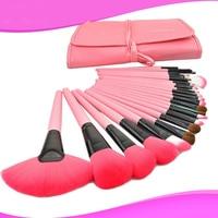 Follome 24 pz Spazzole di Trucco Professionale Morbida Fondotinta In Polvere Ombretto Cosmetici Rosa Fibra Di Lana Morbida Make Up Tools