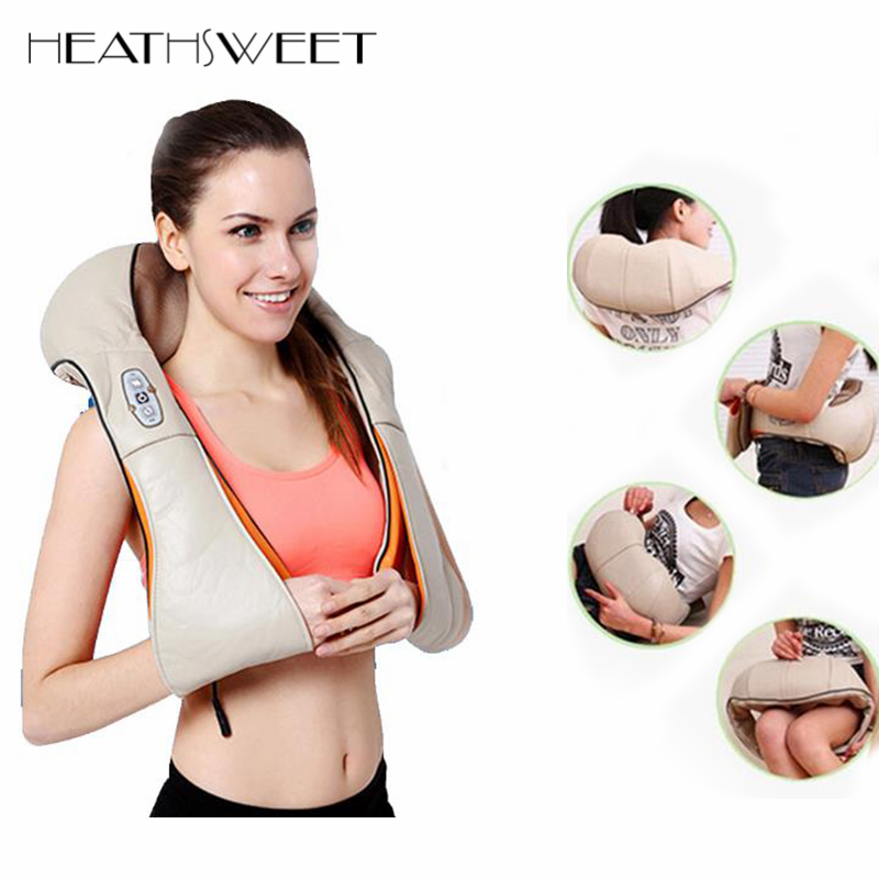 Healthsweet U Shape Electric Massage Belt Acupuncture Shiatsu Infrared 3D Kneading Body Massager Pillow For Back Neck Shoulder тени минувшего