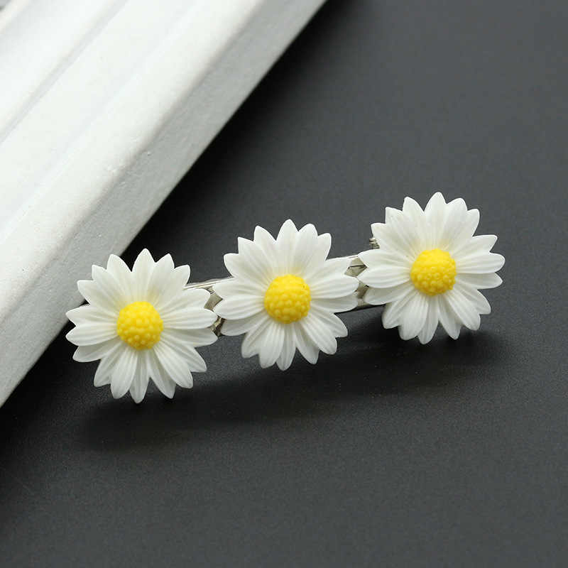 2 pieces of daisy stretch cute simple and generous look temperament style hair ring rope hairpin ponytail girl child baby