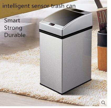 Capteur intelligent Rechargeable poubelle mode créative maison salle de bain chambre flip automatique