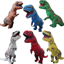 2017 Inflatable Dinosaur T REX Costume Fantasia Adult Halloween Cosplay Costume For Adult Disfraces Adults 6 Colors