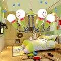 Moderno Quarto de Crianças LEVOU Lustre Criativo Meninas e Meninos Dos Desenhos Animados Little Bee Estudo Lustre De Vidro Frete Grátis