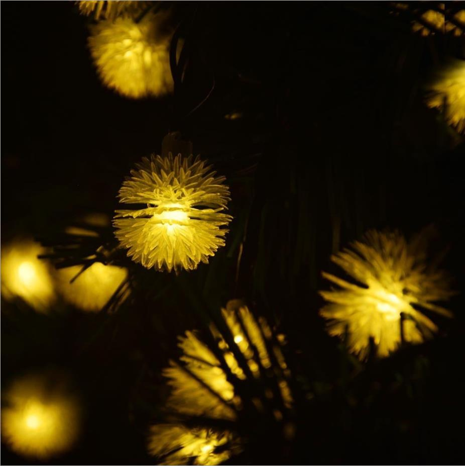 LED Chuzzle Солнечный свет уличные зимние цветник строки Новый год для отдыха и вечеринок Свадебные Лампы для мотоциклов 4.8 м 20 светодиодов