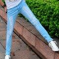 Мужские Брюки Карандаш Супер Тощий Slim Fit Разноцветные Эластичный Ripped Washed Faded Длинные Джинсы Для Молодых Мужчин