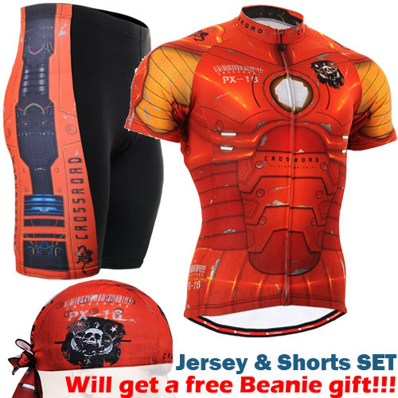 все цены на 2017 Cool Men Short Sleeve Cycling Sets spider Jerseys Summer MTB Bike Sports Shirt Cycle Bicycle Clothing Full Zippered онлайн