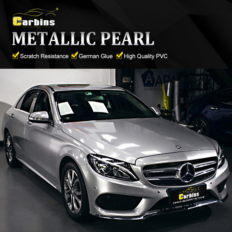 Us 350 0 Carbins Original Car Paint Color Design Vinyl Wrap Styling Waterproof Gloss Silver Metallic Candy On Aliexpress