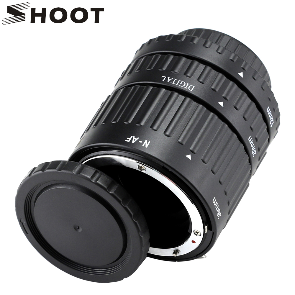 12mm, 20mm, 36mm Auto Focus Macro Extension Tube Set for Nikon d3200 SLR AF AF-S D G and VR lens Camera for Nikon Accessories