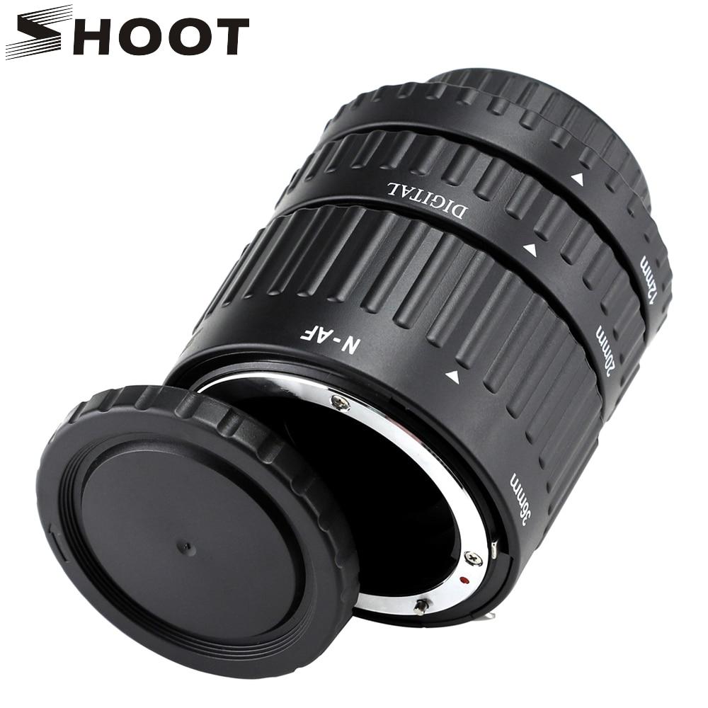 SHOOT 12mm, 20mm, 36mm Auto Focus Macro Extension Tube for Nikon d3200 SLR AF AF-S D G and VR Camera lens for Nikon Accessory
