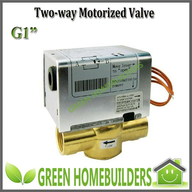 "2pcs/lot,G1"" 2 way electric solenoid  valve,220-240VAC50/60Hz,magnetic hysteresis synchronous motor 5RPM,Removable actuator"
