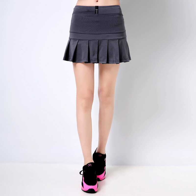 Women Black Sports Skirts And Shorts Professional Two Pieces Tennis And Badminton Skorts Hot Running And Fitness Skirts