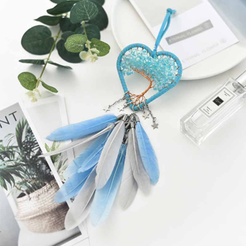 Life Tree Windbell Suspension Household Vehicle Rearview Mirror Windbell Suspension Hollow High rise Crystal Design Dreamnet Win in Ornaments from Automobiles Motorcycles