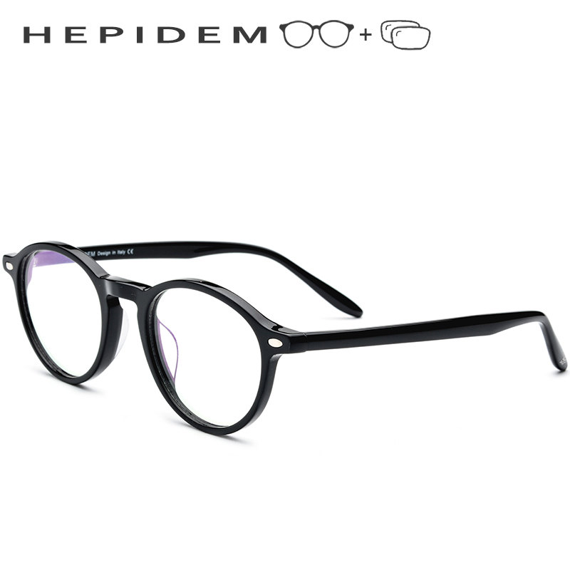Acetate Prescription Glasses Frame Men Women Round Eyeglasses Vintage Retro Circle Myopia Optical Frames Spectacles Eyewear