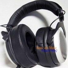 本物のラムスキン革耳パッドbeyerdynamic DT770 DT660 DT440 mmx 300、1プロプラスヘッドホン泡クッション耳あて