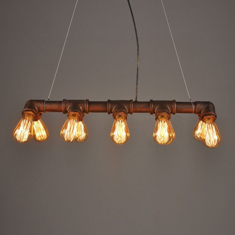 Creative Iron pendant lamp American Retro Loft Pendant Light For Coffee Shop Club Home Living Room Metal Art Lamp E27 Bulb