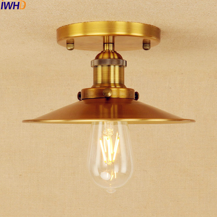 golden lighting fixtures. iwhd copper golden edison ceiling light lamp led plafon home lighting industrial vintage fixtures lampara techo f