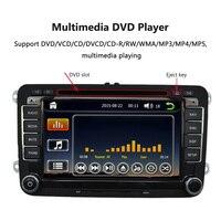 7 1080P HD DVD Player GPS Navigation Bluetooth Car Radio 2 Din Dash Car PC Stereo