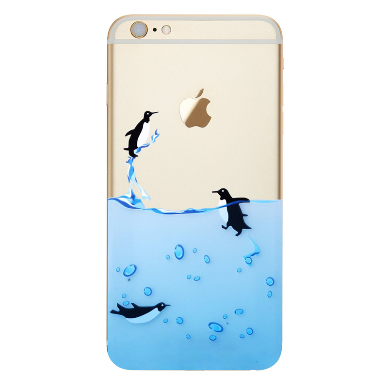 new concept a1893 3d4c9 US $2.22  For Coque iPhone 7 Case For Apple iPhone 7 Plus Silicon Case  Cover TPU Rubber Gel Clear Ocean Cartoon Animal Print Design luxury-in ...