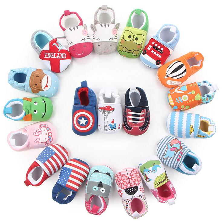Lovely Baby Newborn Shoes Anti Slip Baby Shoes Cartoon Prewalker Soft Bottom Bebe Infant Shoes First Walkers Fashion Slippers