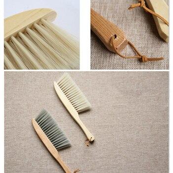 Bamboo Handle Mini Brooms Shovel Set Household Plastic Cleaning Brush Small Broom Dust Shovel 5