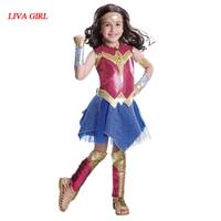 L G Deluxe Child Dawn Of Justice DC Superhero Wonder Woman Halloween Costume Girls Princess Diana