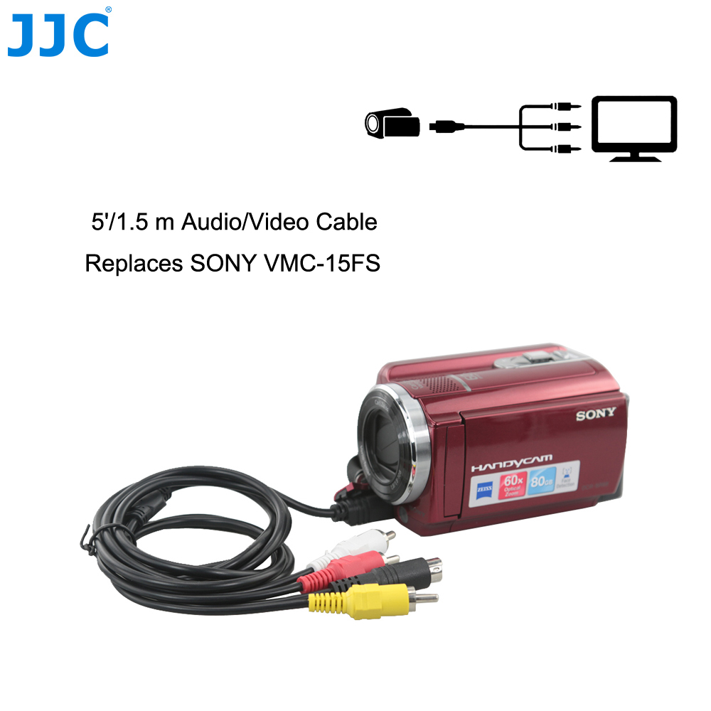 hight resolution of detail feedback questions about jjc 1 5m 10 pin connector audio video cord tv av a v output cable for sony vmc 15fs compatible handycam camcorder on