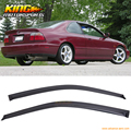 For 94-97 Honda Accord 2Dr Window Visors Rain Vent Shade Wind Deflector 2PCS
