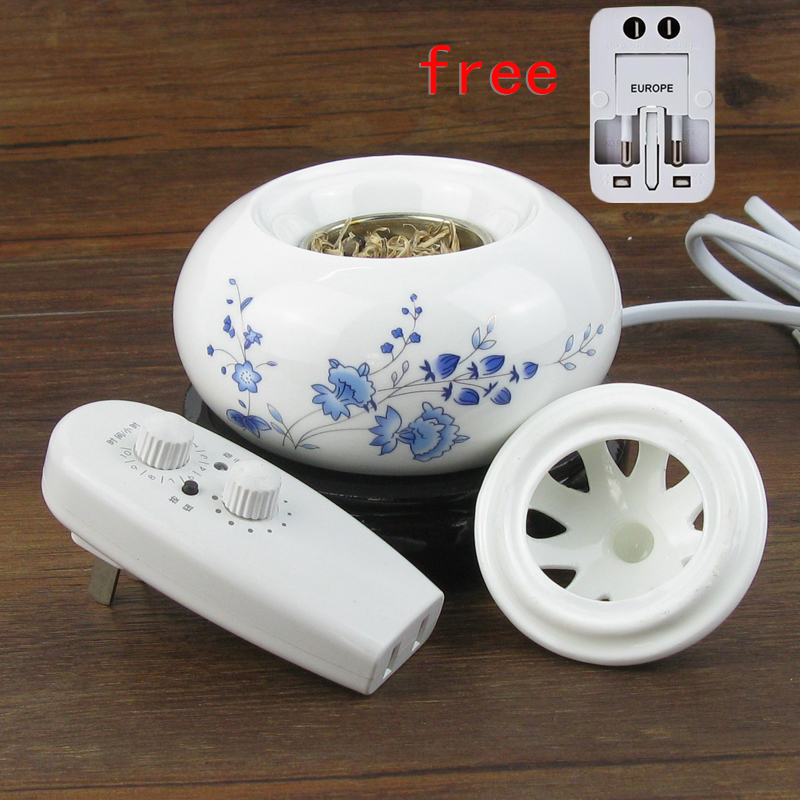 220v Electronic Timing Thermostat Flower Painting Ceramic Aroma Incense Burner Stove with Plug Lamp Powder Essential Oils Censer ...