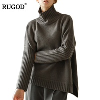 RUGOD Thick Warm Turtleneck Sweater Women 2018 Autumn Winter Solid Sweet Jumper Women Sweaters And Pullovers