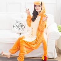 New Women Adult Cartton Pyjamas Cosplay Onesie Fiery Dragon Coral Fleece Onesie Animal Pajamas One Piece