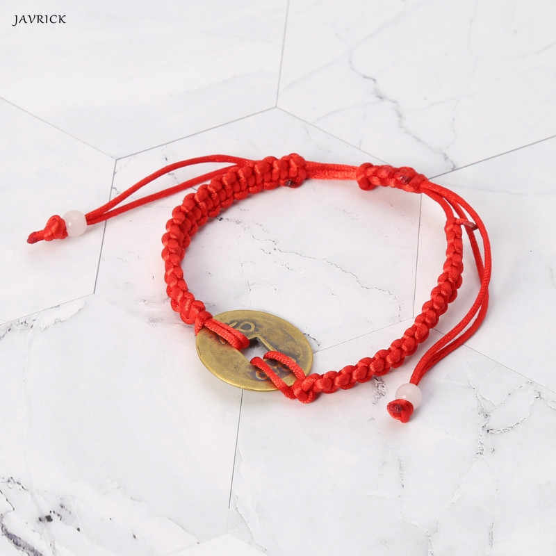 81f564e0977fe7 Detail Feedback Questions about JAVRICK Chinese Style Wealth Good Lucky  Charm Copper Coin Pendant Adjustable Red String Bracelet Jewelry on  Aliexpress.com ...
