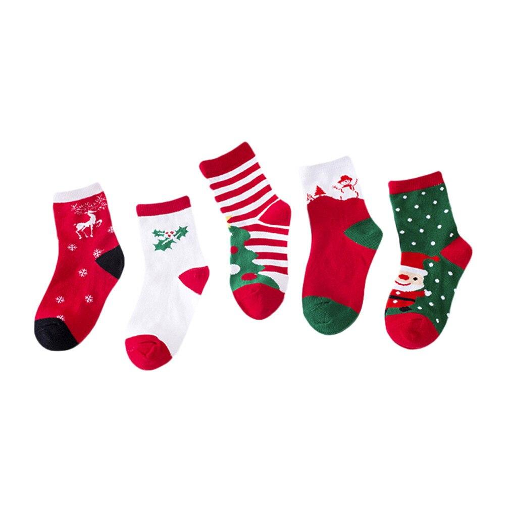 100% QualitäT Weihnachten 5 Paare/los Baby Junge Streifen Socken Weiche Baumwolle Säuglings Socken Niedlichen Cartoon-muster Kinder Socken Für Baby Junge Rot # 5l Erfrischend Und Wohltuend FüR Die Augen