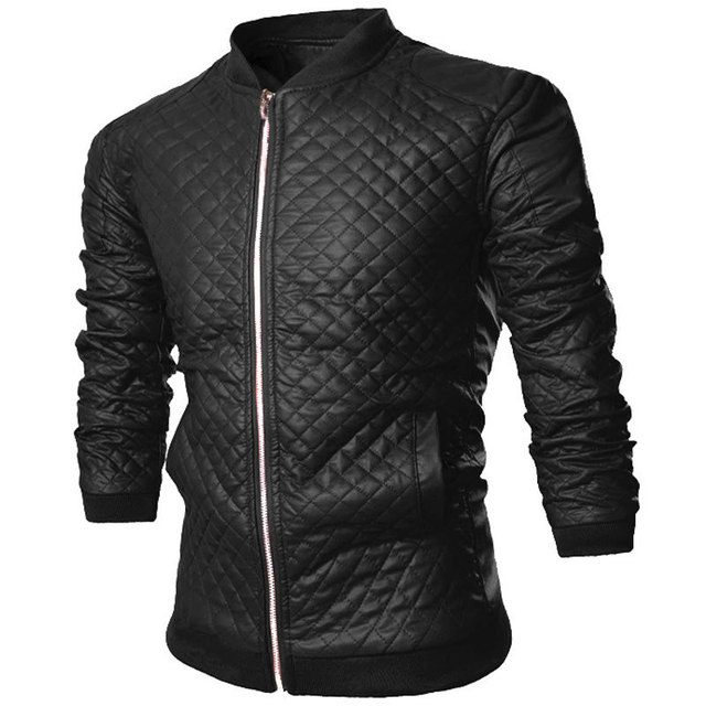 2015 New Autumn Winter Fashion Vintage Black Pu Leather Jacket Men Casual Brand Design Mens Windproof Motorcycle Biker Jacket