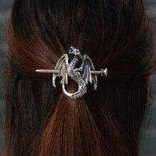 Viking Renaissance Dragon Hair Sticks Wyvern Dragon Hairpin Hair Accessories Jewelry