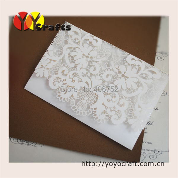Ceremony handmade party supplies white floral laser cut 40th – Handmade 40th Birthday Invitations
