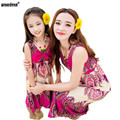 WEONEDREAM 2017 Summer Mother & Daughter Dress Family Matching Outfits Sleeveless Bohemian Mom and Daughter Dress