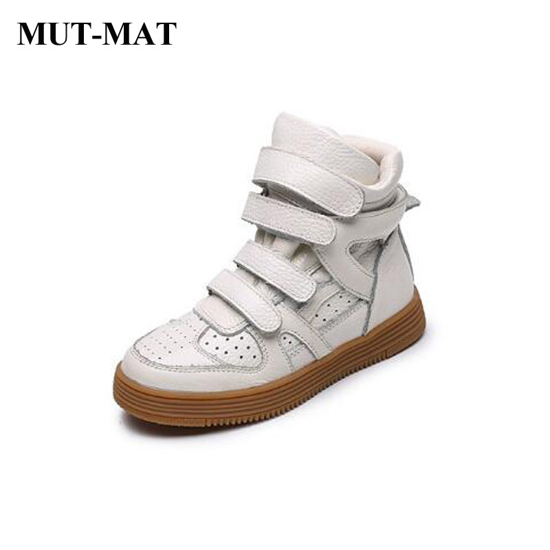 Children shoes Soft Geniune leather Sport shoes Comfortable lining High-top sneakers kids shoes