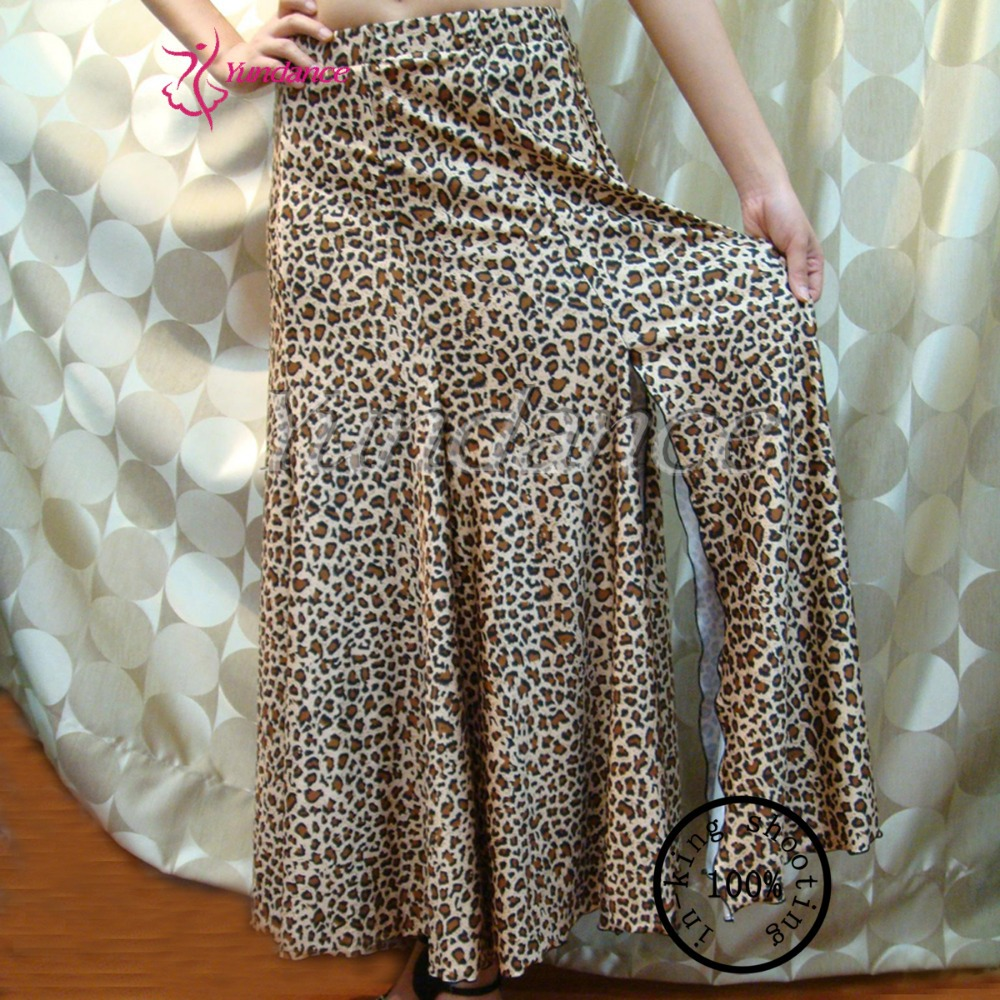 S-07 New Leopard Printed New Latin Salsa Tango Rumba Cha Cha Ballroom Dance Dress Skirt