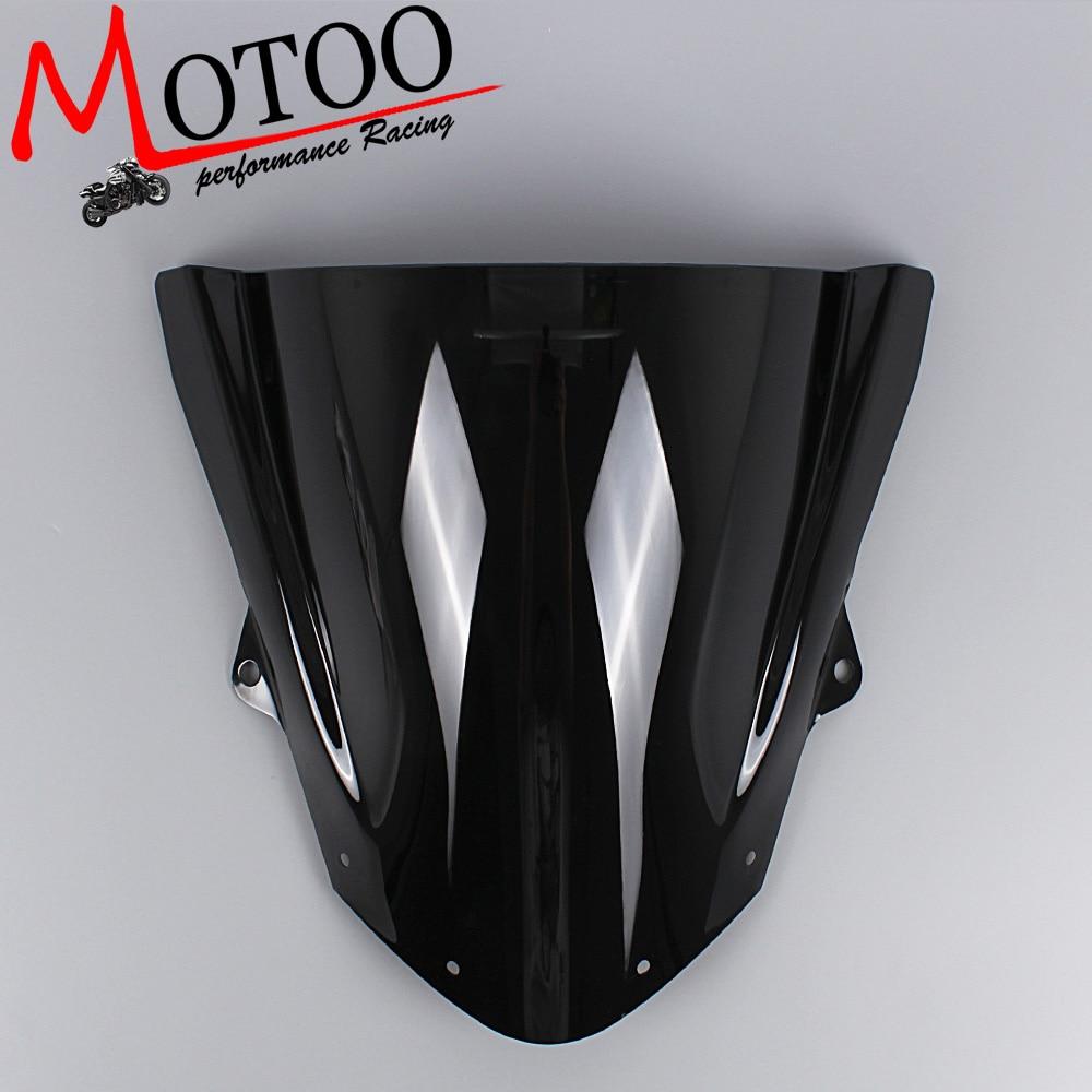 Motoo -Windshield WindScreen Double Bubble for Kawasaki ZX6R 2009-2016 ZX10R 2008-2010 motoo windshield windscreen double bubble for suzuki gsx r600 gsxr600 1996 1999