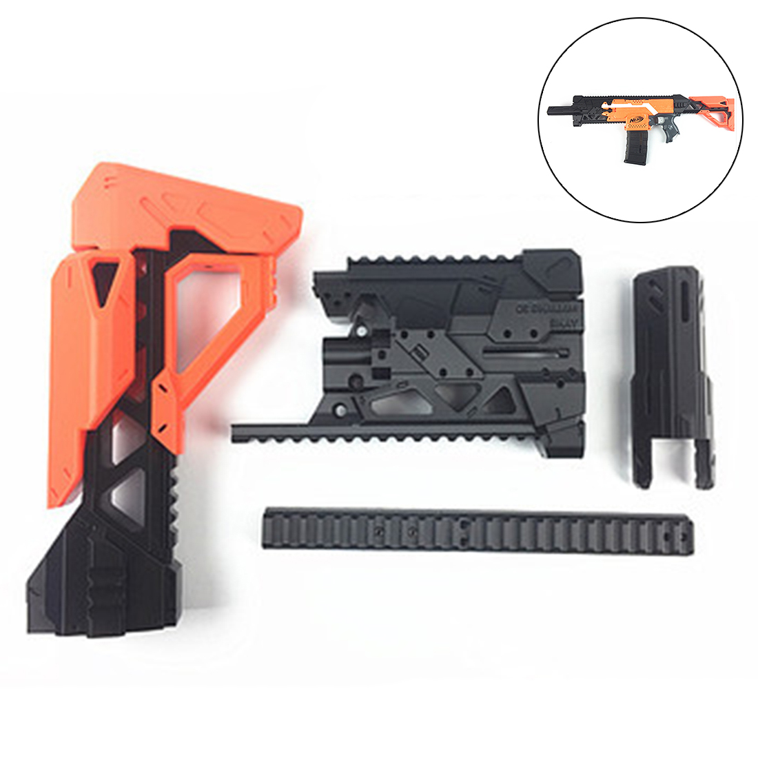 Maliang 3D Printing A0711 Science Fiction Style S2 Modified Kit for Nerf Stryfe