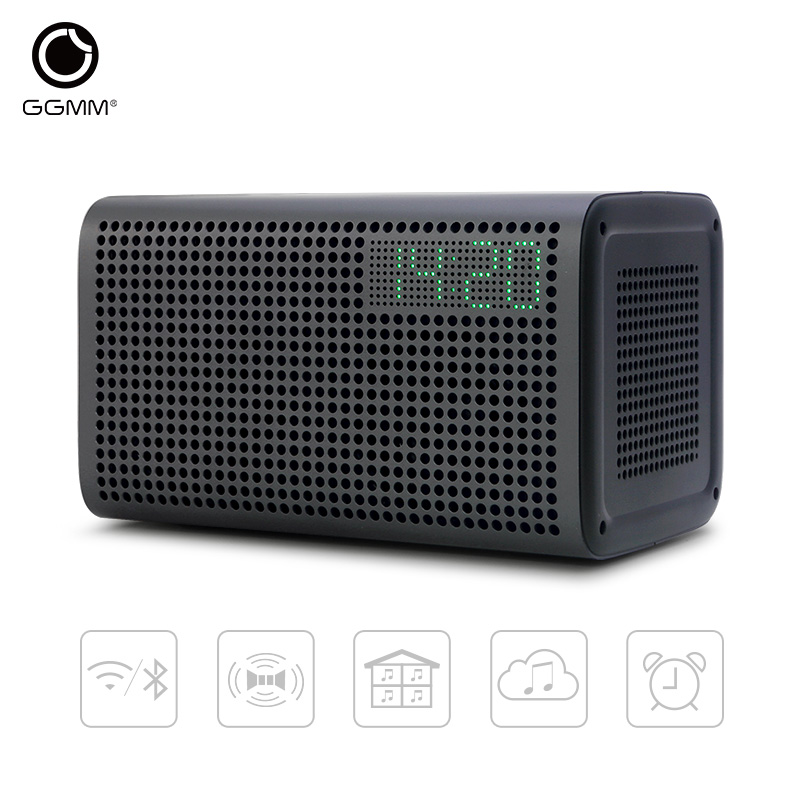 GGMM E3 Wireless wifi speaker Bluetooth Speaker Home Theater Stereo Audio Music Speakers with LED digital clock HIFI sound  цена и фото