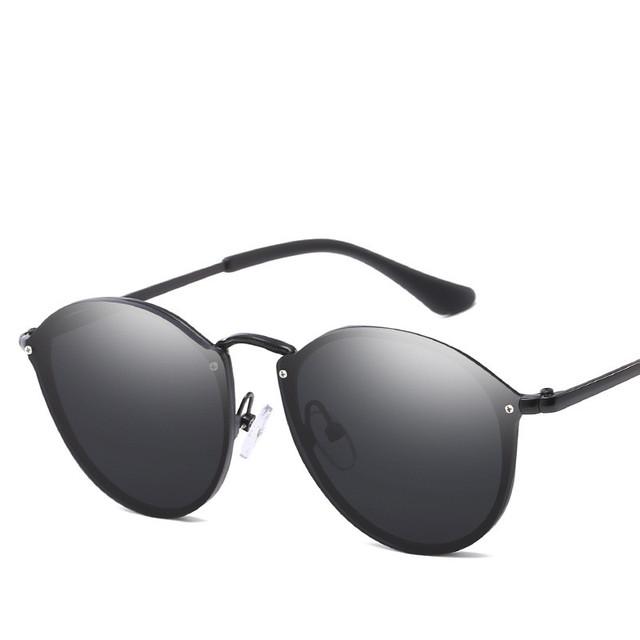 Luxury Round Sunglasses Women Brand Designer