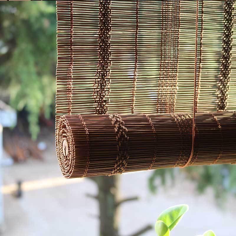 Custom made natural bamboo curtain chinese curtain bamboo for Balcony zen garden