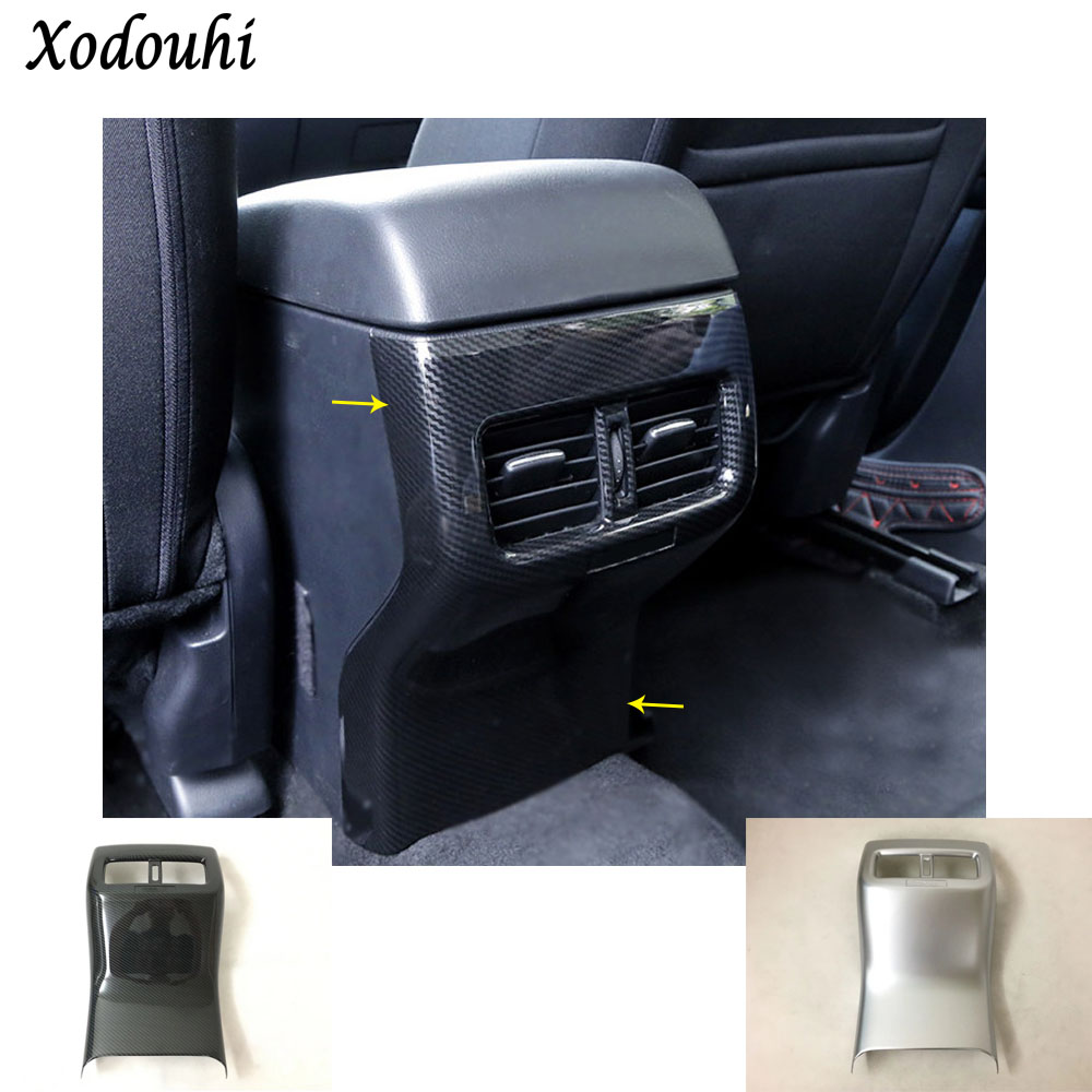 Car armrest storage trim rear back upside Air conditioning Outlet Vent hoods parts 1pcs For Mazda CX-5 CX5 2nd Gen 2017 2018 1 piece stainless steel car styling interior electronic hand brake cover trim for mazda cx 5 cx5 2nd gen 2017 2018 accessories