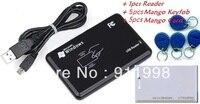 5 bộ/lô Tàu Miễn Phí New An Ninh USB RFID ID reader proximity smart 125 khz em4100 thẻ đọc 1 cái reader + 5 cái keytag + 5 cái th