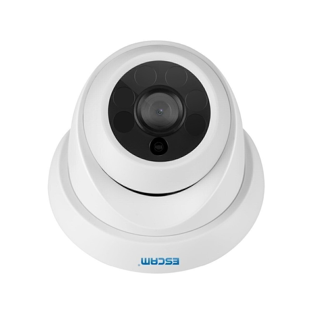 ESCAM QH001 ONVIF 2MP HD 1080P P2P Day/Night IR Dome IP Camera With Motion Detection/app push Home Security Surveillance Cameras full hd ip camera 5mp with sound dome camera ip cam cctv home security cameras with audio indoor cameras onvif p2p